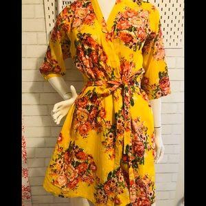 April Cornell Irish cotton kimono/ robe.
